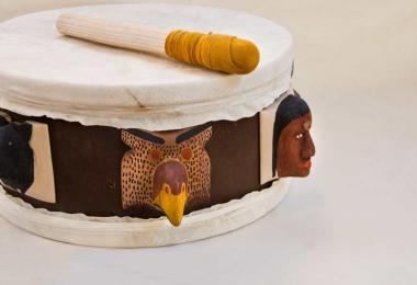 Cherokee art drum
