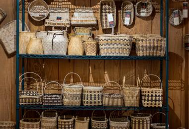 Cherokee art wall of baskets 0
